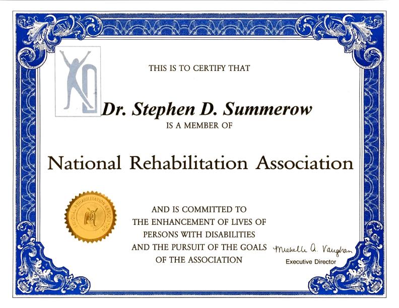 drsummerow_natl_rehab_assoc_cert