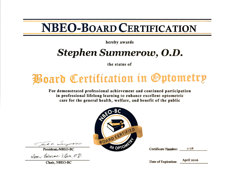 drSummerow_board_cert_optometry